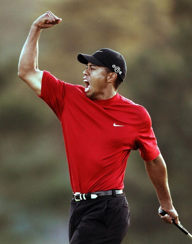 6bd94feff600c Masters  Photos of Tiger Woods throughout the years at Augusta ...