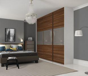 huge discount 63603 4ec3c Wickes Sliding Wardrobe Door Wideline Walnut Panel ...