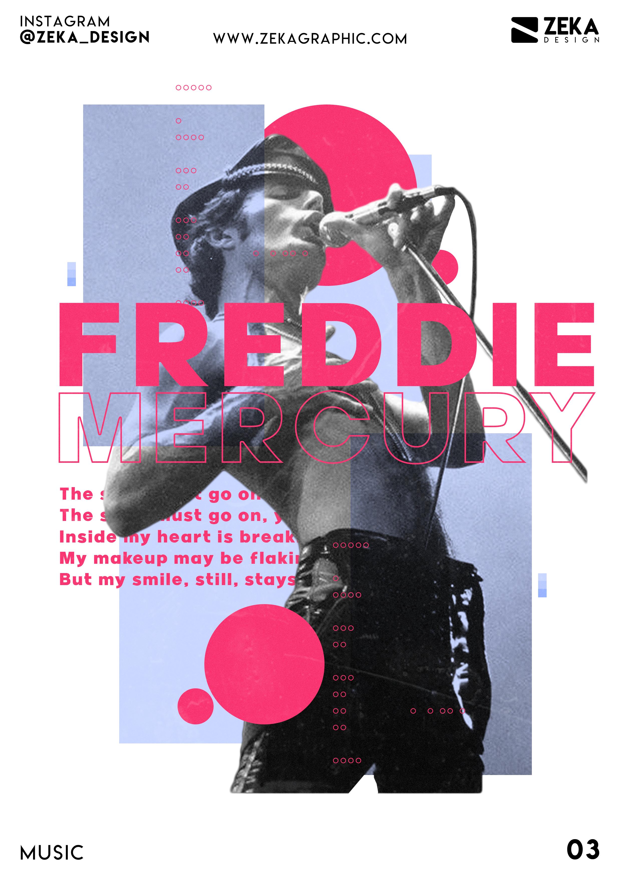 freddie mercury poster design music