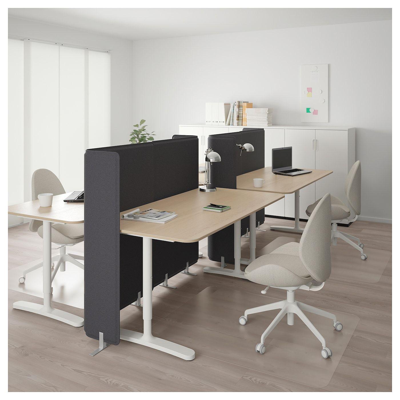 Ikea Bekant Desk With Screen White