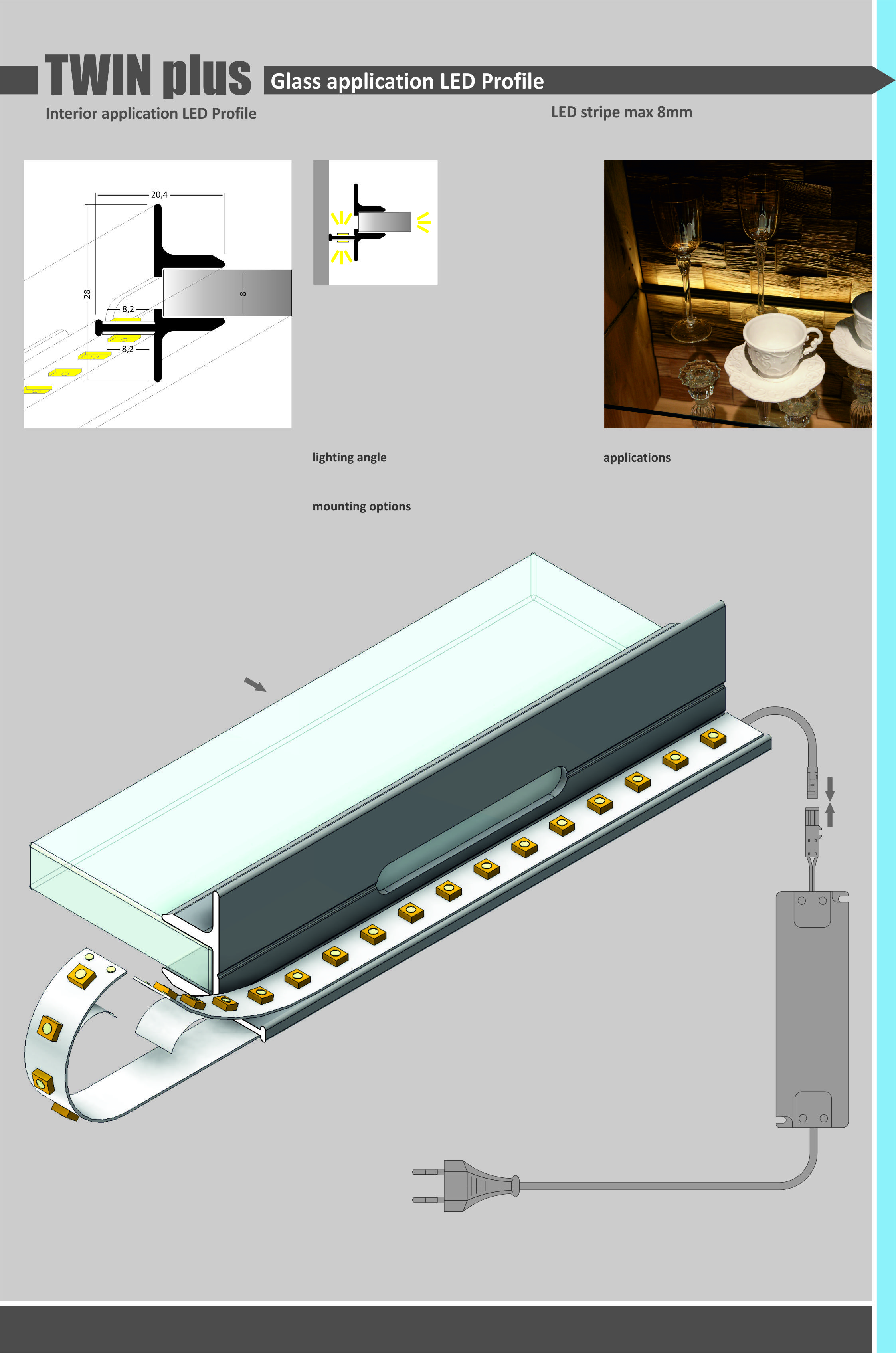 Twin Plus Led Profile Lighting Pinterest Beleuchtung Diagram Tool For Glass Made Of Raw Aluminum Applications Back