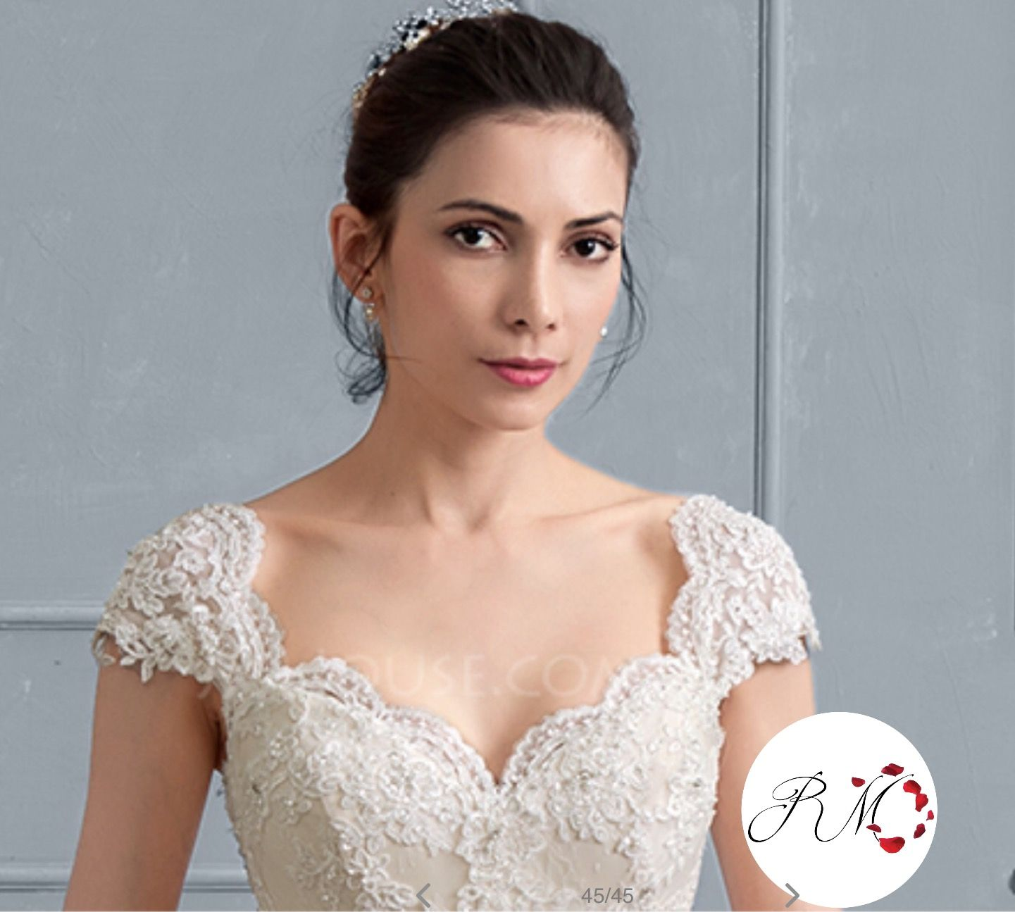 Adding Cap Sleeves Wedding Dress To: Detachable Cap Sleeves. Lace Appliqued Onto Tulle Cap