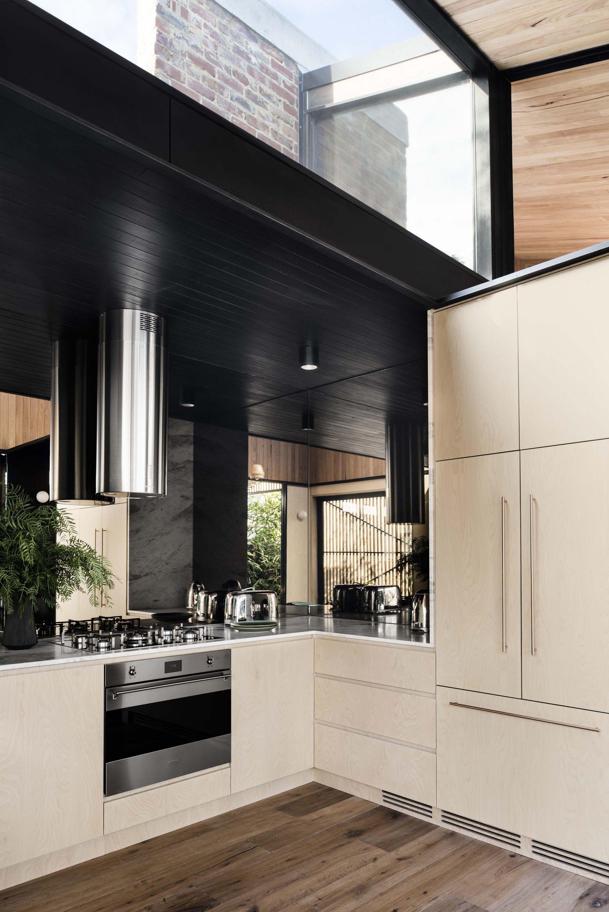 Gallery Of Light Corridor House Figr Architecture Design 11 Kitchen Mirror House Design