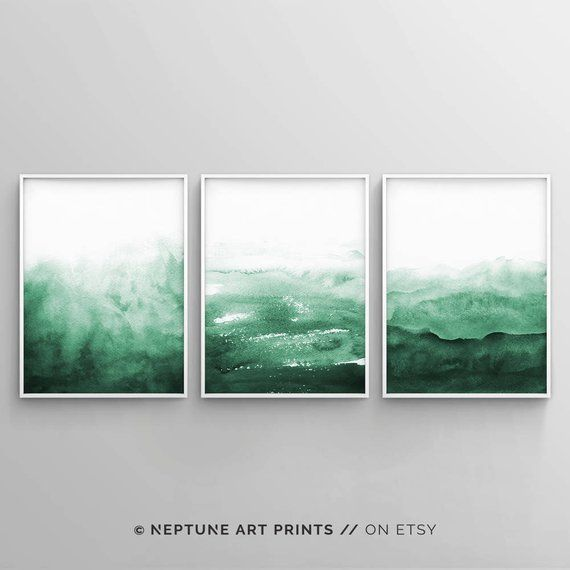 Green Print, Abstract Painting, Watercolour Wall Art, Printable Digital Download, Teal Green Decor, Large Poster, Brush Strokes, Ink, #Abstract #Art #Brush #Decor #Digital #Download #GREEN #Ink #Large #Painting #Poster #Print #Printable #Strokes #Teal #Wall #Watercolour