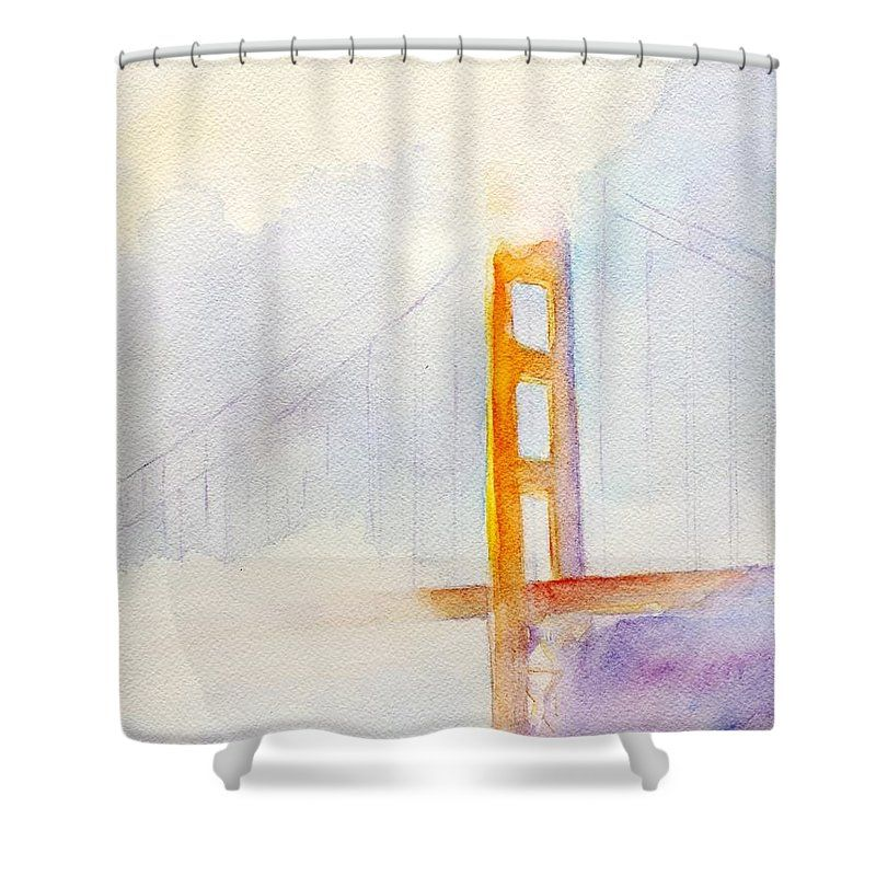 Shower curtain with golden gate bridge