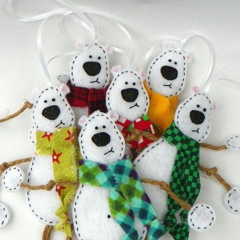 Eisbär Eisbär Ornament-Mr #feltchristmasornaments