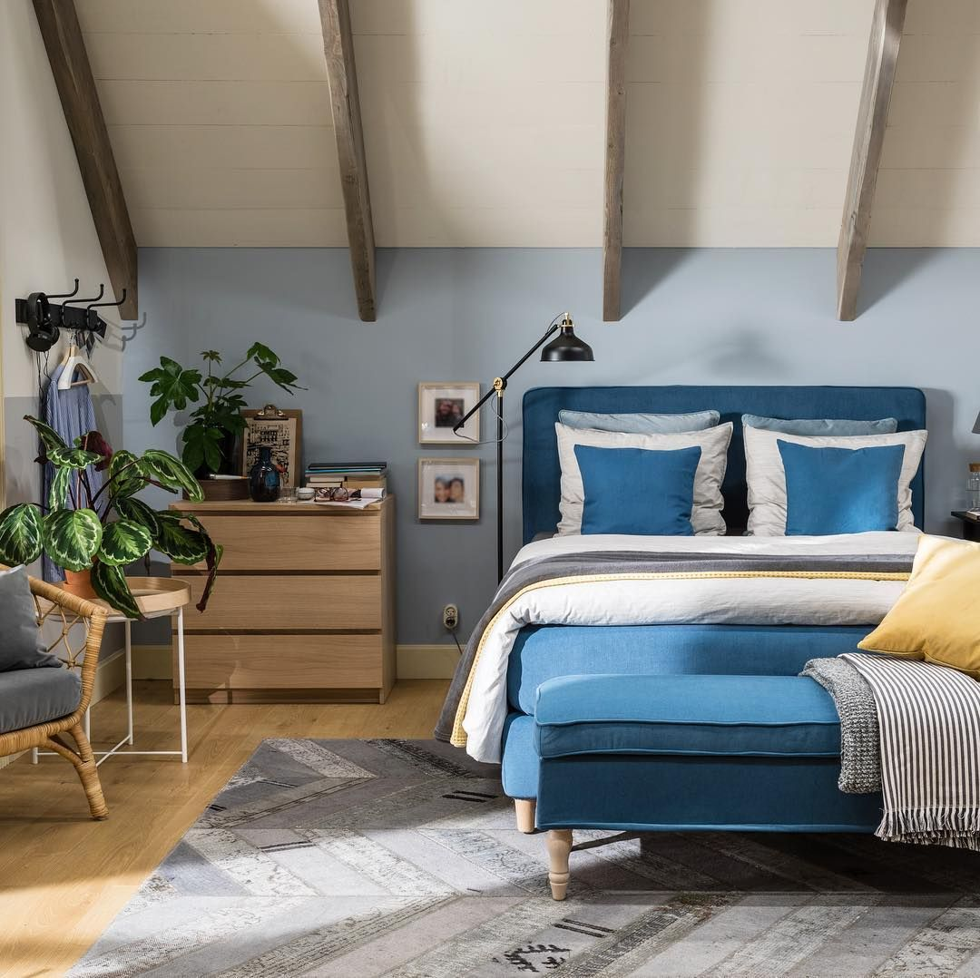 boxspring slaapkamer goedslapen malm ladekast silkeborg vloerkleed ikea ikeanederland