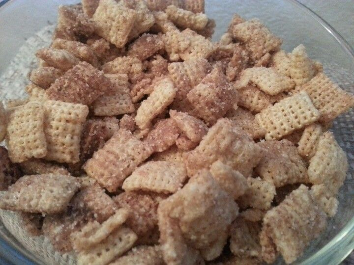I Used Rice Chex. Melt 2/3 A Stick Of Unsalted Butter, Add