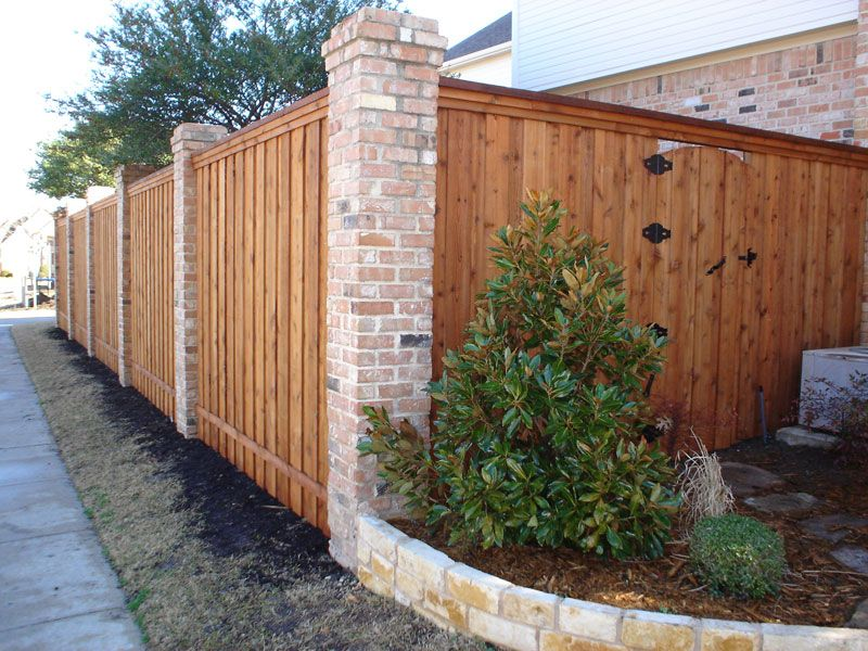 picts of fences made of brick an wood | Life is better on ...