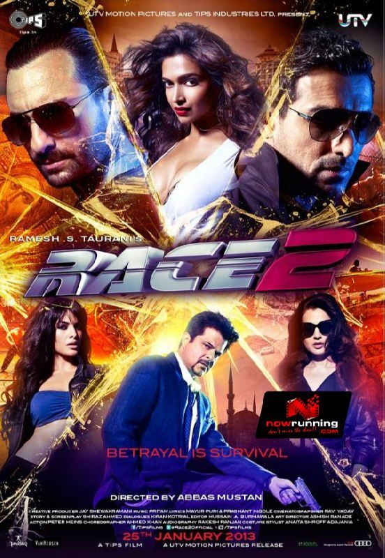 Race 2 Poster Race 2 movie, 2 movie, Bollywood movies
