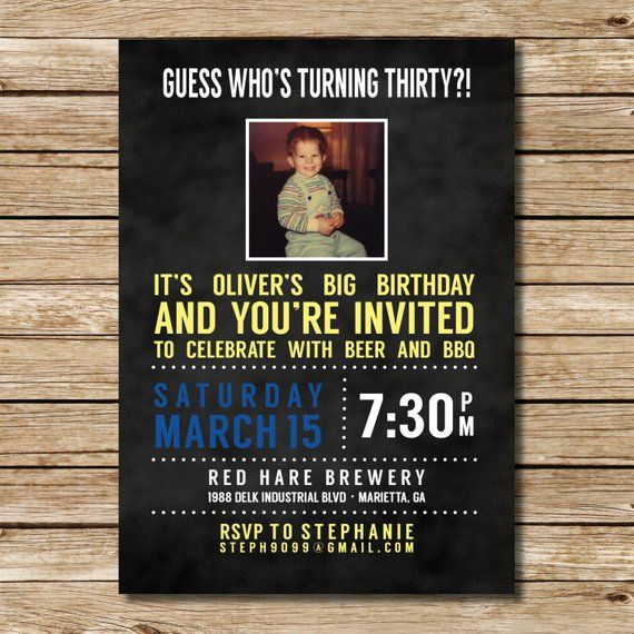 Funny Photo Milestone Birthday Invitation