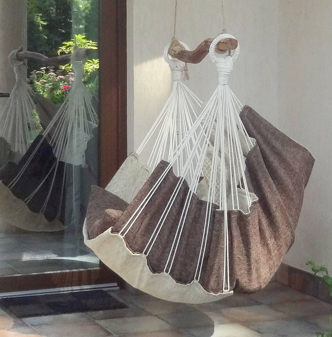 Hammock chair for home and garden for interior decor and bedroom