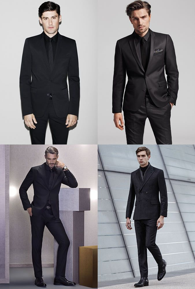 58ff110f41c Men s All Black Evening Formalwear - Monochrome (Black and White) Outfit  Inspiration Lookbook