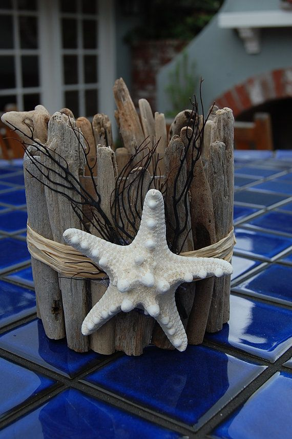 driftwood candle holder by lagunabeachcomber on etsy bricolage en bois flott pinterest. Black Bedroom Furniture Sets. Home Design Ideas