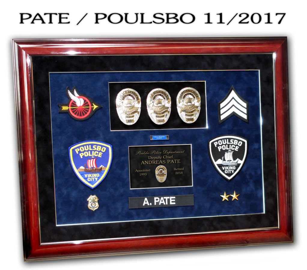 http://www.badgeframe.com/ | Police Standard Frame Presentations ...
