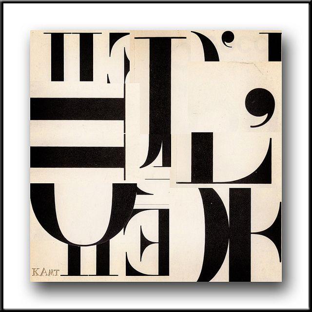 Robert Traxon Graphic Design: Collage Workbook, Exercise 12, Typography L'OEIL