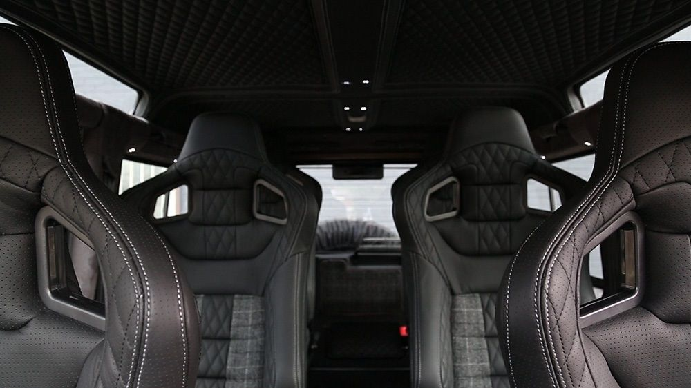 LAND ROVER DEFENDER 110 BLACK SEAT COVERS WITH GREY PIPING