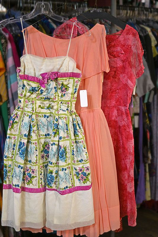 Lovely spring dresses in our Women's Vintage department