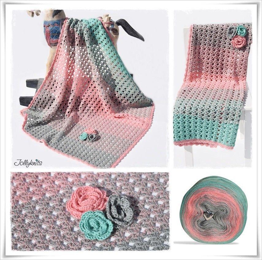 Häkelanleitung Babydecke Ice Queen / Crochet Pattern Baby Blanket ...