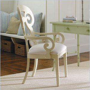 Stanley Furniture Coastal Living Cottage Wayfarer Arm Chair In Shell