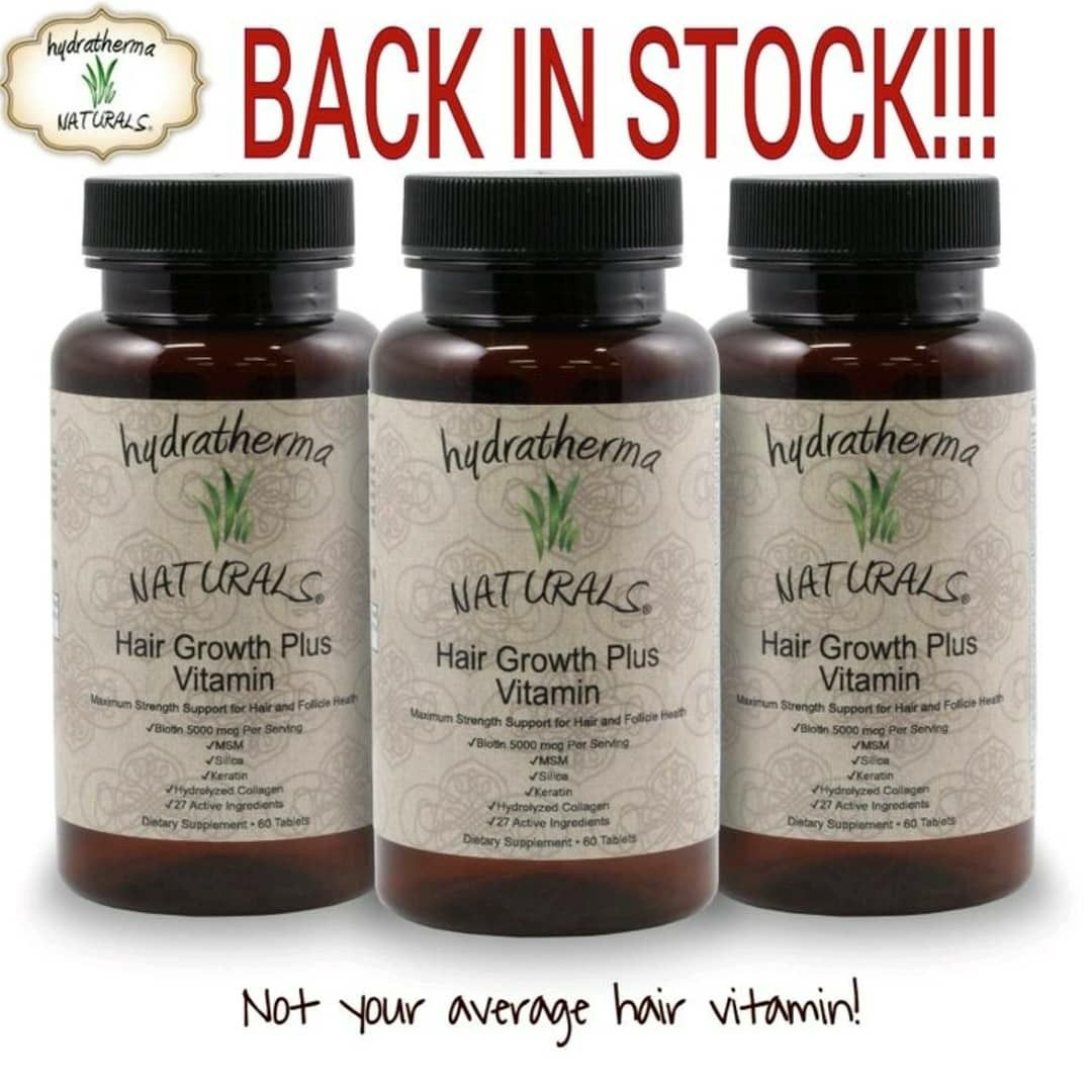 The Hydratherma Naturals Hair Growth Plus Vitamins are back in stock