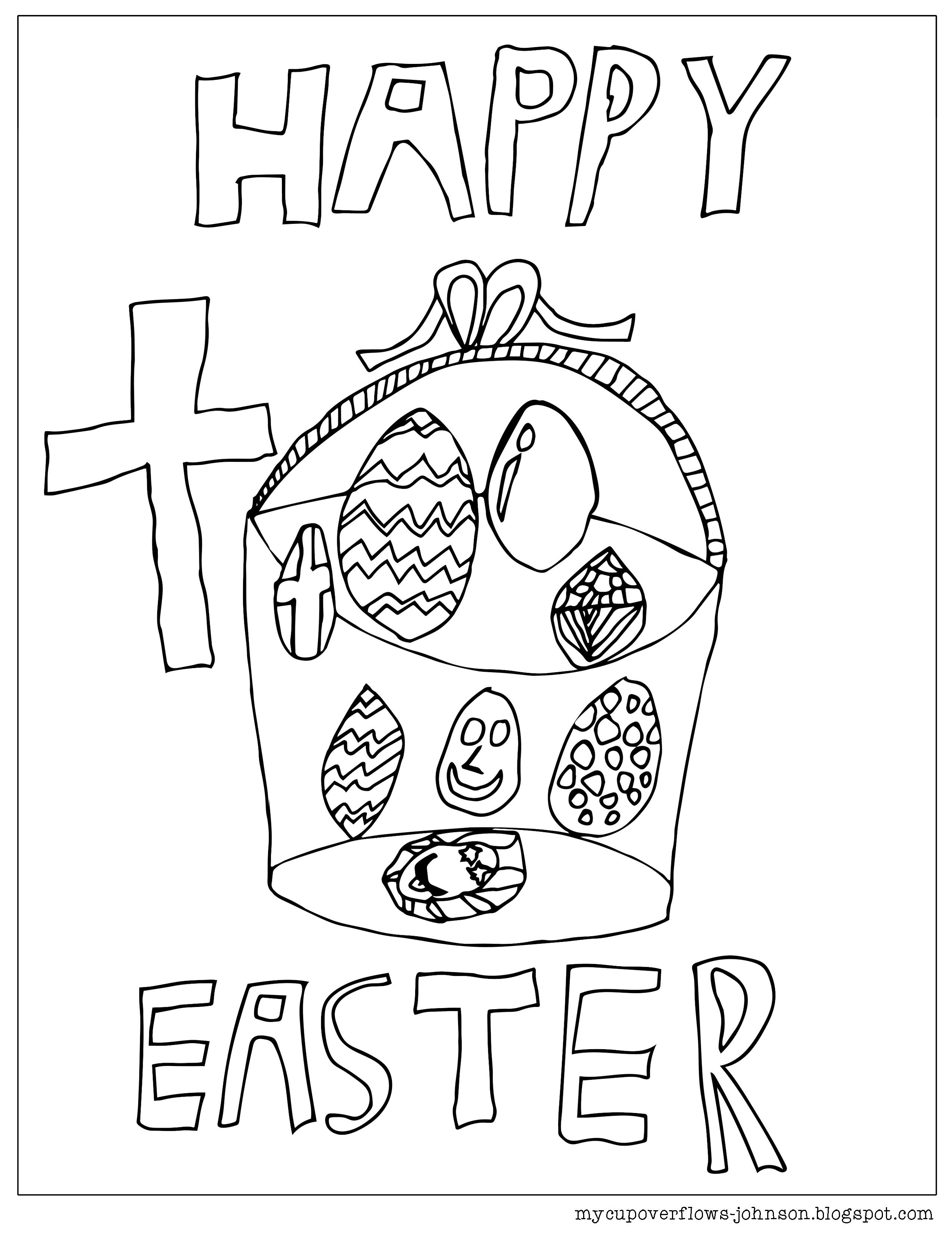Happy Easter In 2020 Easter Coloring Pages Easter Colouring Coloring Pages