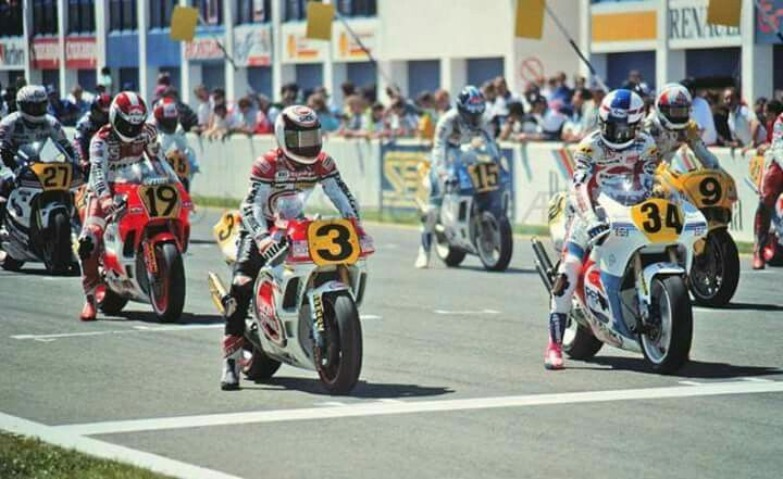Rainey, Schwantz, Lawson, Spencer, Taifa, Haslam, Chili... Jerez, 1989 Spanish 500c.c GP