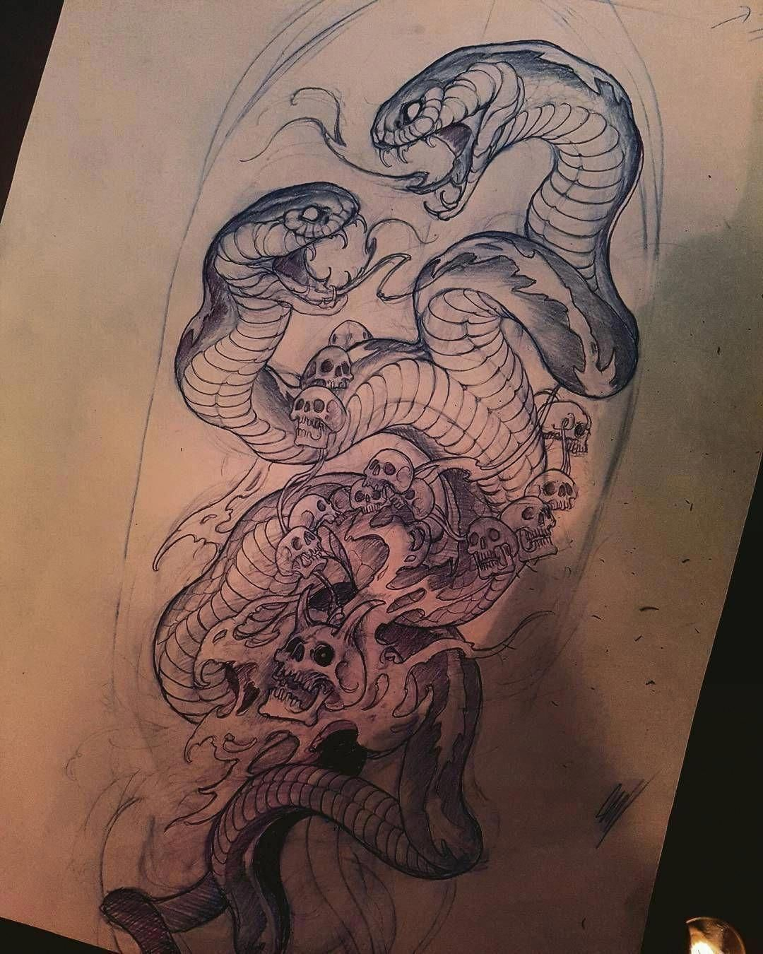 Pin By Zendric Proxima On Art Sketches Japanese Tattoo Art Snake Art