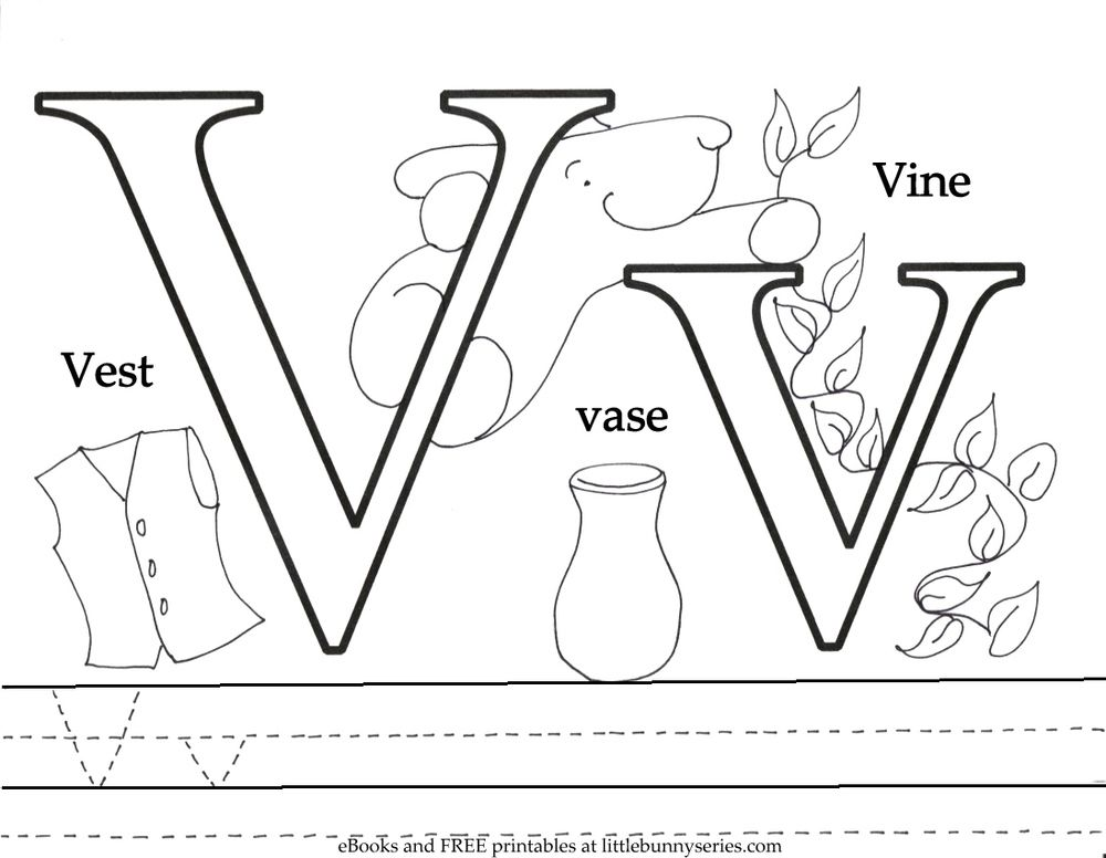 Letter V Coloring Page Pdf Coloring Pages Free Preschool Printables Letter A Coloring Pages
