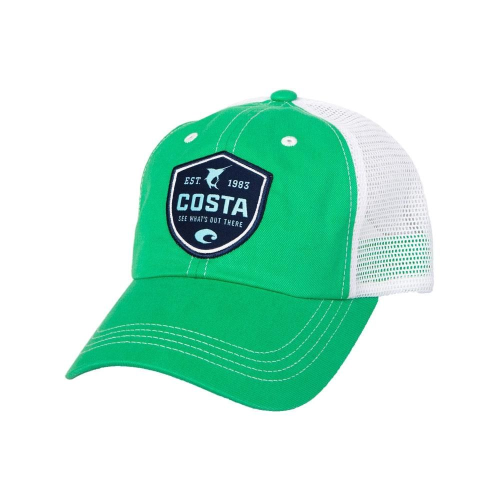 Costa Del Mar Shield Trucker Hat SPRINGGREEN WHITE  d06d7fbd6b1a