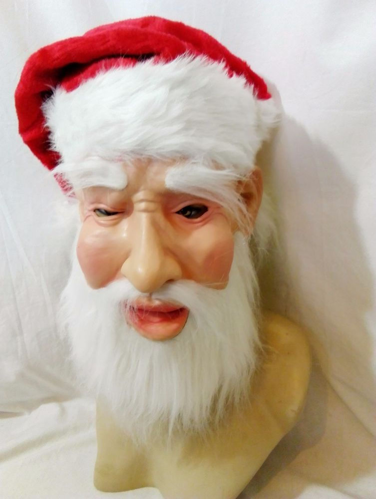 65bd17a3c6e Latex Mask Father Christmas Santa Claus Full Head Quality Adult Fancy Dress