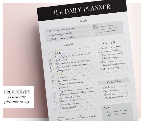 Day Planner Daily Schedule Planner Daily Planner Printable - printable day planner