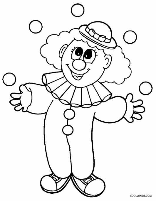 Printable Clown Coloring Pages For Kids Cool2bKids clowns