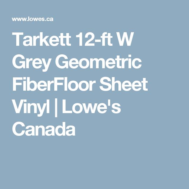 Tarkett 12 Ft W Grey Geometric FiberFloor Sheet Vinyl