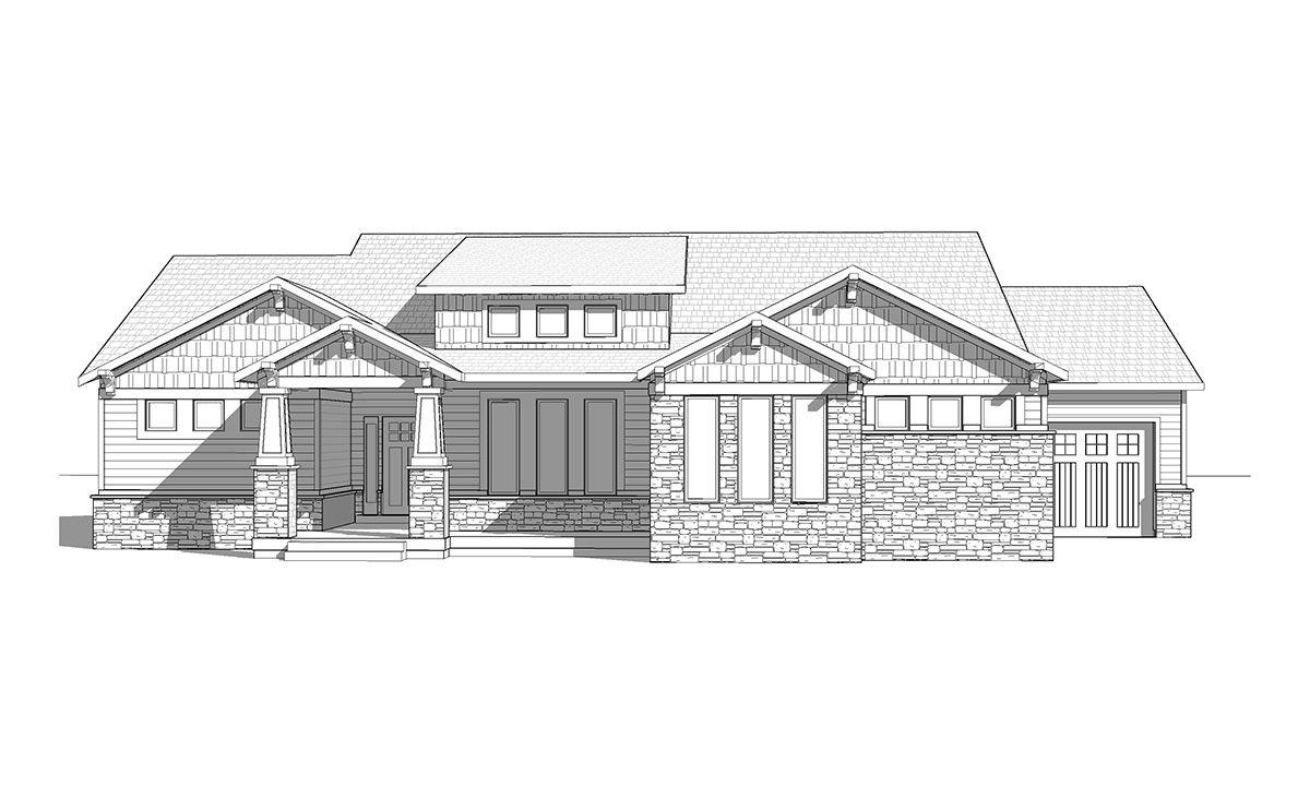 Oceanside - A craftsman style rambler house plan - Walker Home ...
