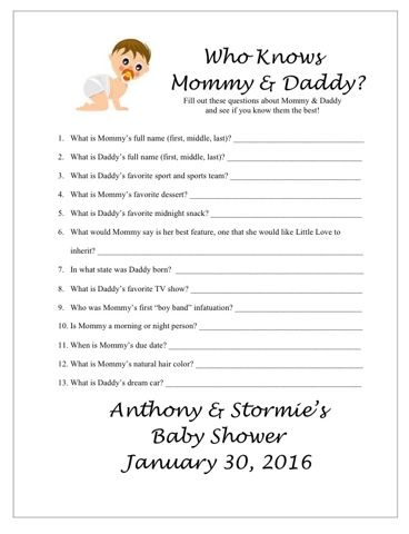 Baby Shower Games Free Printable Baby Shower Sophia
