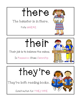 Homophone Posters and Worksheets--Commonly Confused Words ...