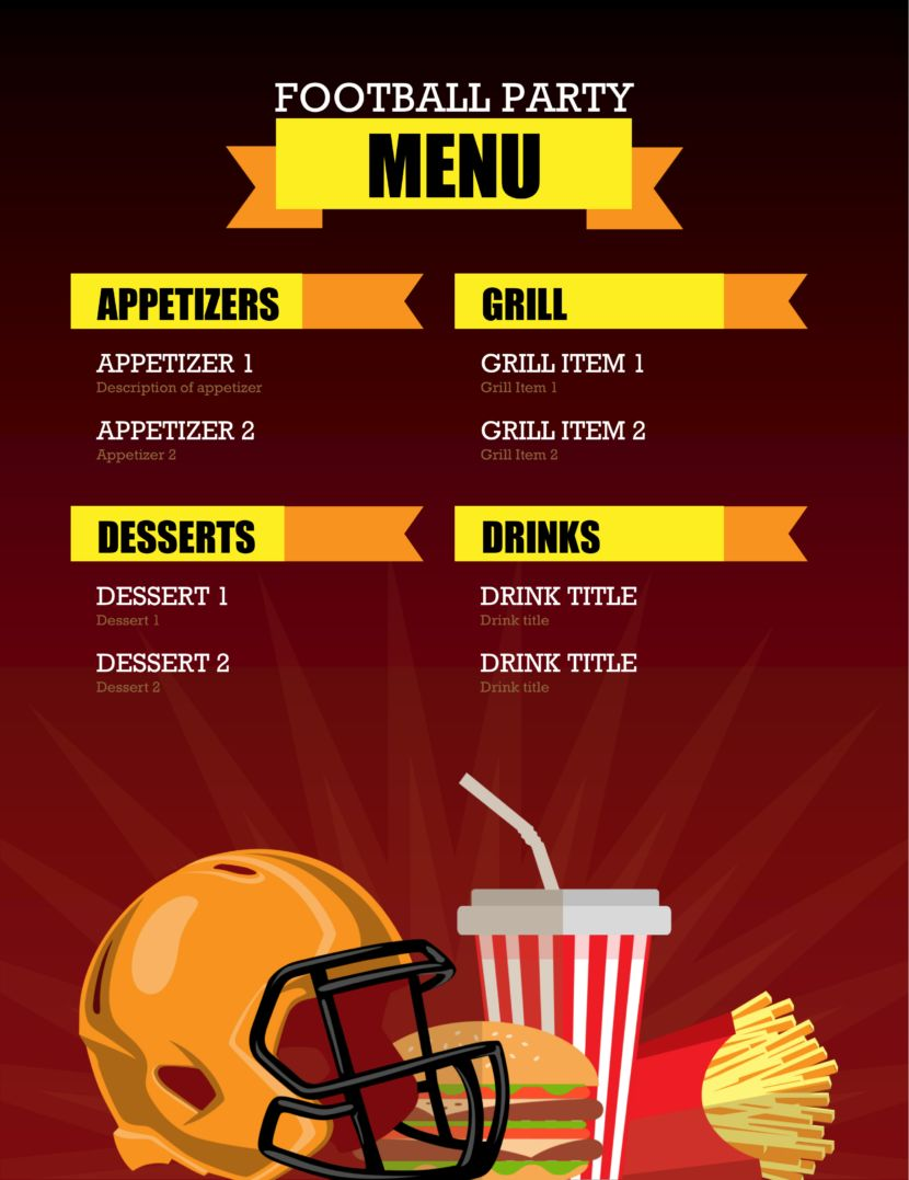 32 Free Simple Menu Templates For Restaurants, Cafes, And