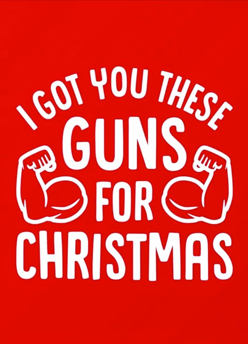 Fitness Motivation I Got You These Guns For Christmas Fitness Motivation Quotes Funny Funny Fitness Motivation Fitness Motivation Quotes