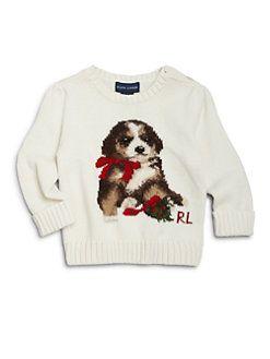 Ralph Lauren Infants Knit Dog Sweater Luxurious Layettebaby
