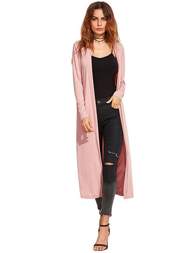 Verdusa Women's Long Sleeve Open Front Long Maxi Cardigan |Womens Spring Fashion  Outfits