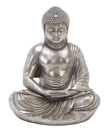 Silver Buddha Meditating