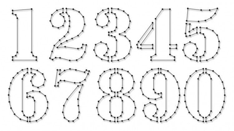 Zahlen Vorlage für Fadenbilder Basteln Pinterest Zahlen