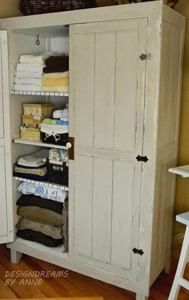 IKEA HACK WARDROBE TO VINTAGE LINEN CLOSET - Wood, Pallet + Plank Projects For The Home Ikea Hack, Linen