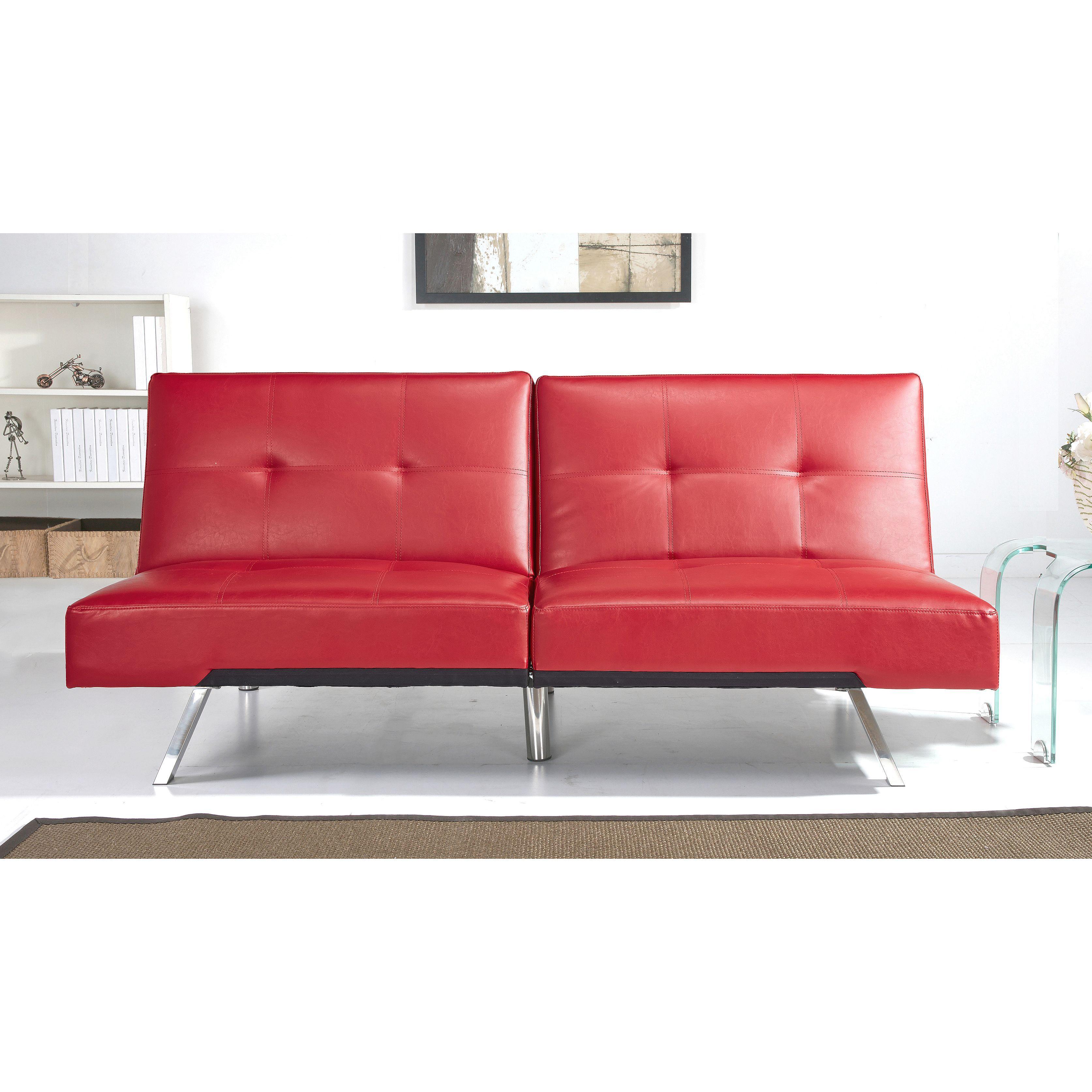 abbyson living aspen red leather foldable futon sleeper sofa bed   overstock shopping   great deals abbyson living aspen red leather foldable futon sleeper sofa bed      rh   pinterest