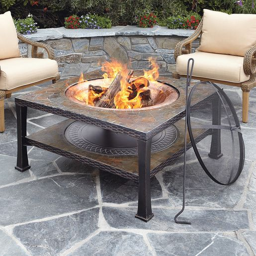40 Inch Mosaic Top Copper Fire Pit Pits Tables Outdoor Heating