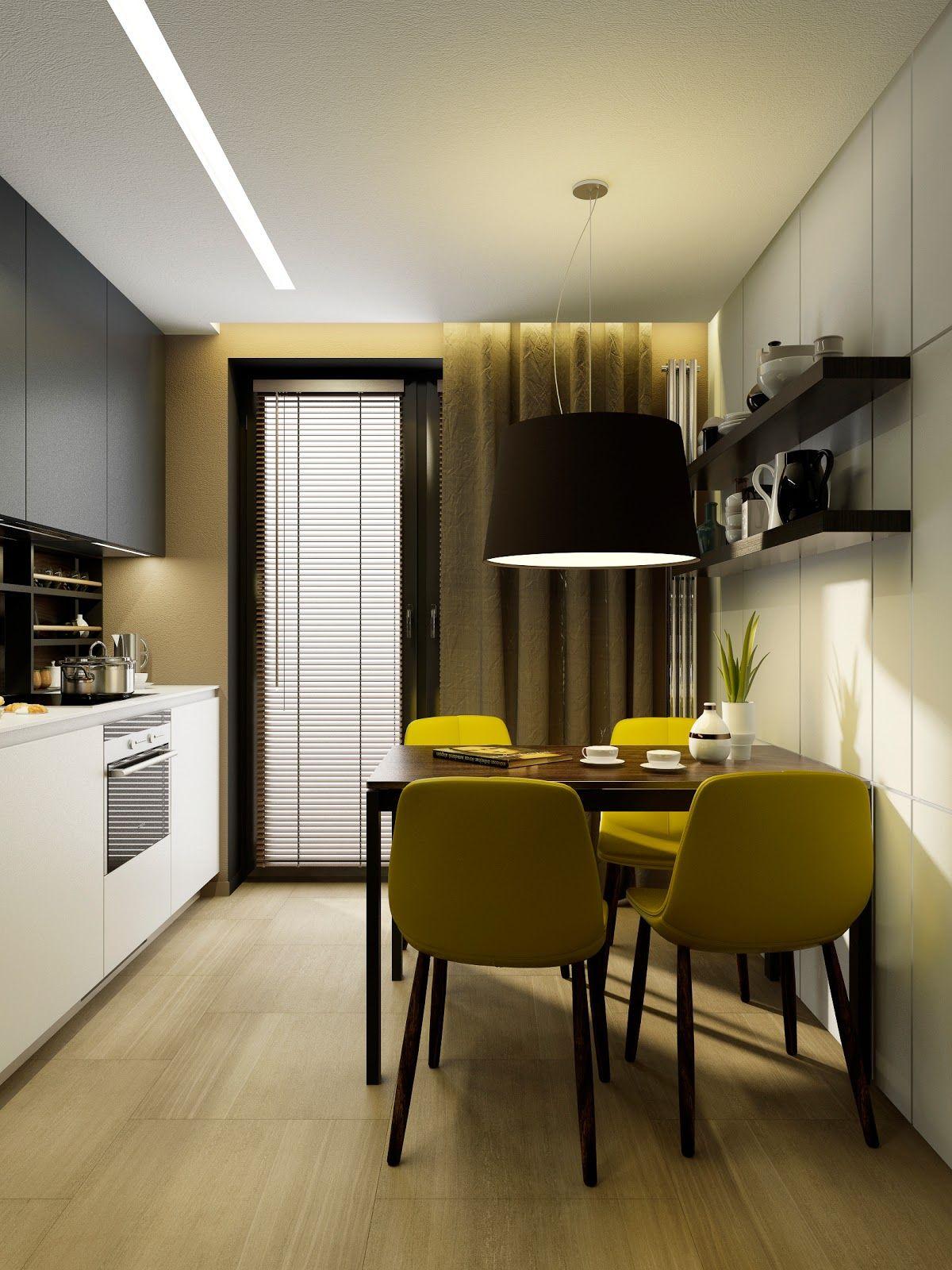Дизайн однокомнатной квартиры МаРенькая кухня от Макса Касымова