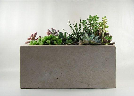Rectangular Concrete Planter Concrete Planters Concrete Planter Boxes Planters