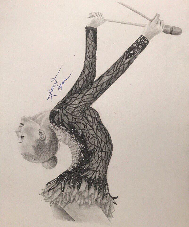 Pingl par awen bree sur rhythmic gymnastics illustrated - Dessin de grs ...