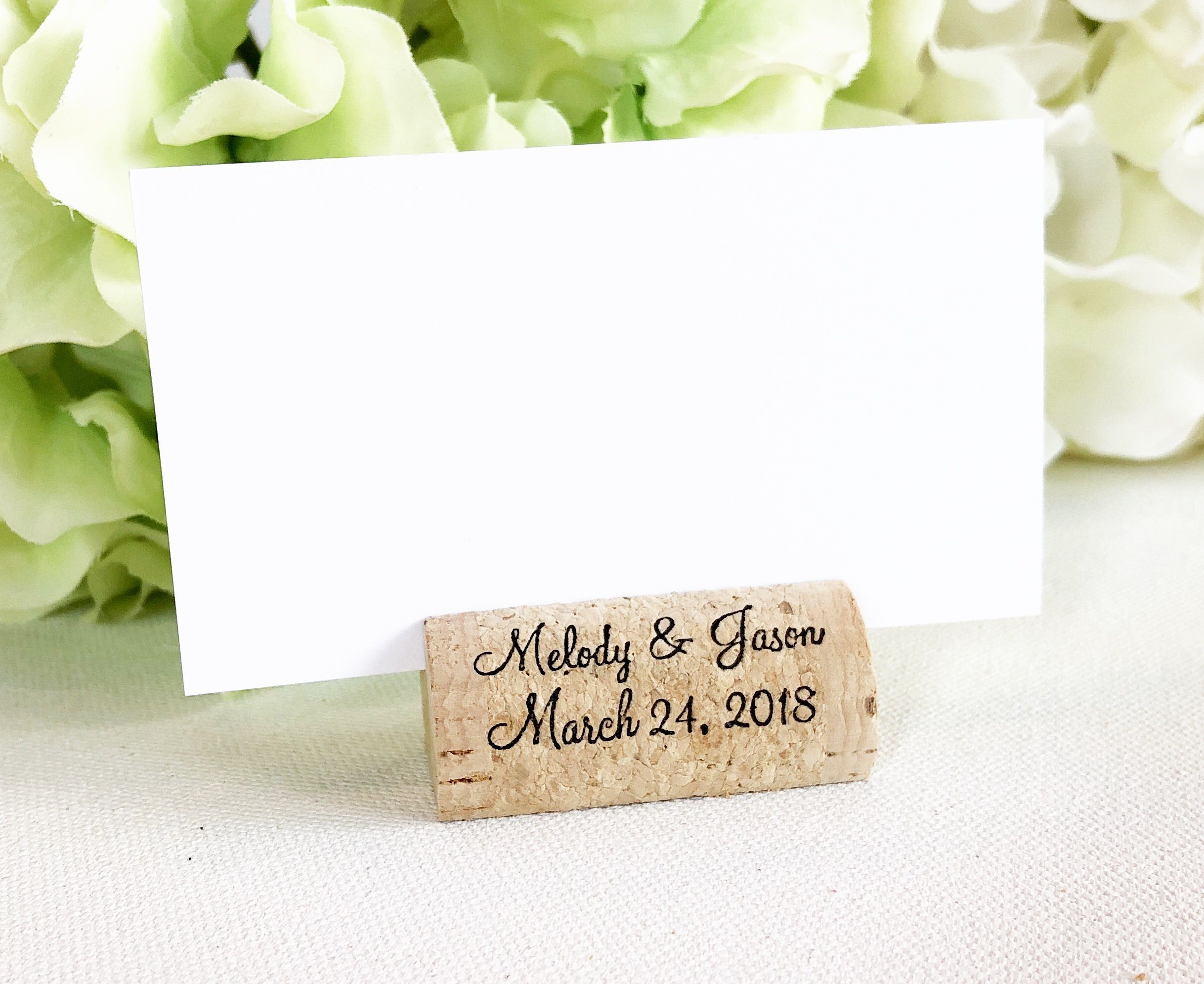 Wine Cork Place Card Holder Build Your Own 2018 Wedding Trends